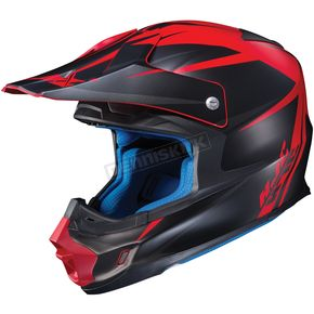 HJC Semi-Flat Black/Red FG-MX Axis MC-1SF Helmet - 360-715