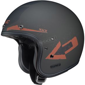 HJC Flat Black/Orange IS-5 Arrow MC-9F Helmet - 436-894