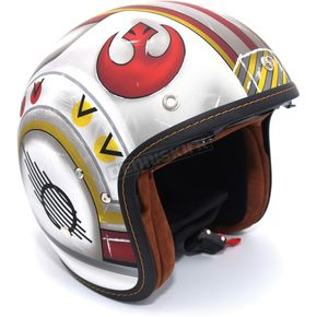 HJC FlatWhite/Red IS-5 X-Wing Fighter Pilot MC-1F Helmet - 438-811