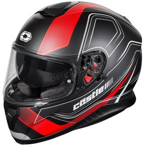 Castle X Black/Matte Red Thunder 3 SV Trace Helmet - 36-1411