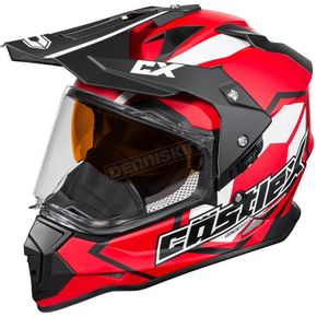 Castle X Red Mode Dual-Sport SV Team Snow Helmet - 35-13718