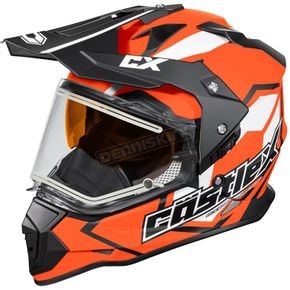Castle X Flo Orange Mode Dual-Sport SV Team Snow Helmet w/Electric Shield - 35-23769