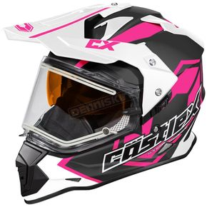 Castle X Pink Mode Dual-Sport SV Team Snow Helmet w/Electric Shield - 35-23786