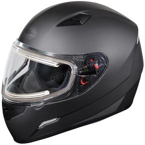 Castle X Matte Black Mugello Snow Helmet w/Electric Shield - 36-20184