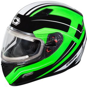 Castle X Green Mugello Maker Snow Helmet w/Electric Shield - 36-20349