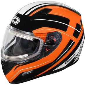 Castle X Flo Orange Mugello Maker Snow Helmet w/Electric Shield - 36-20366