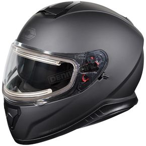 Castle X Matte Black Thunder 3 SV Snow Helmet w/Electric Shield - 36-21289T