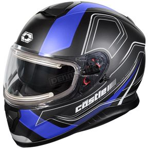 Castle X Matte Blue Thunder 3 SV Trace Snow Helmet w/Electric Shield - 36-21426