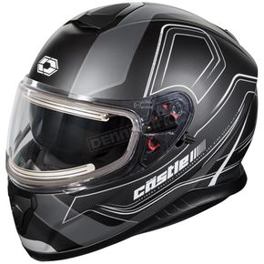Castle X Matte Black Thunder 3 SV Trace Snow Helmet w/Electric Shield - 36-21459T