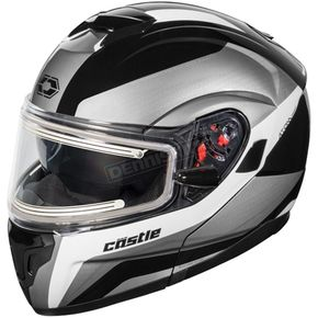 Castle X White Atom SV Tarmac Modular Snow Helmet w/Electric Shield - 36-23302