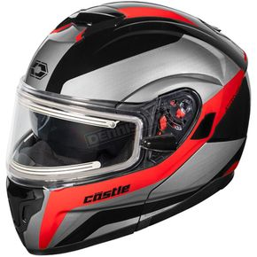 Castle X Red Atom SV Tarmac  Modular Snow Helmet w/Electric Shield - 36-23319T