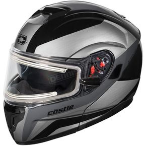 Castle X Black Atom SV Tarmac Modular Snow Helmet w/Electric Shield - 36-23352