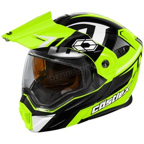 Castle X Hi-Vis/Black EXO-CX950 Slash Snow Helmet - 45-19236