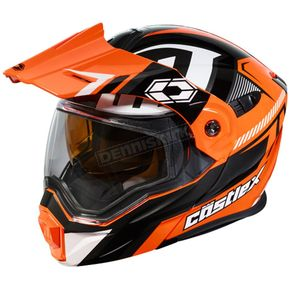 Castle X Flo Orange/Black EXO-CX950 Slash Snow Helmet - 45-19279T