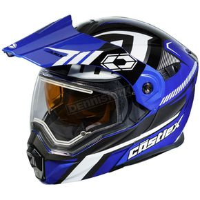 Castle X Blue/Black EXO-CX950 Slash Snow Helmet w/Electric Shield - 45-29222