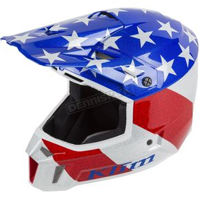 Klim Red/White/Blue Patriot F3  Helmet - 3110-000-150-009