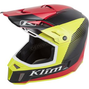 Klim Red/Green/Black Ripper F3 Helmet - 3110-000-140-010
