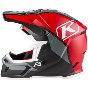 Klim Red/Black/Gray F5 Ion Helmet - 3910-000-130-004