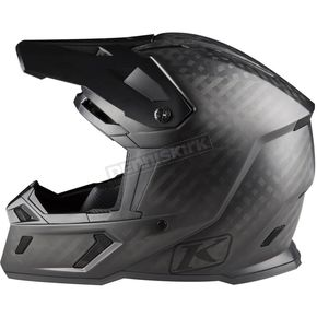 Klim Matte Black/Carbon F5 Ghost Helmet - 3910-000-130-006