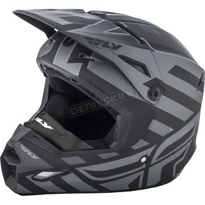 Fly Racing Matte Black/Gray Enterlace Elite Cold Weather Helmet - 73-4940-7-L