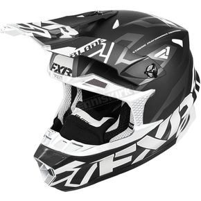 FXR Racing Black/White Blade Vertical Helmet - 180602-1001-13