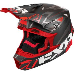 FXR Racing Black/Red Blade Vertical Helmet - 180602-1020-22