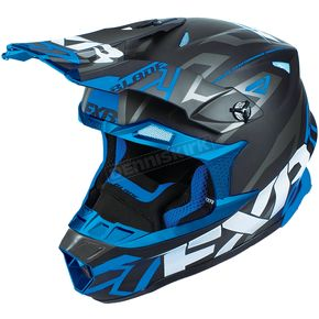 FXR Racing Black/Blue Blade Vertical Helmet - 180602-1040-25