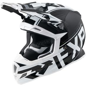 FXR Racing Black/White Boost Clutch Helmet - 180606-1001-19