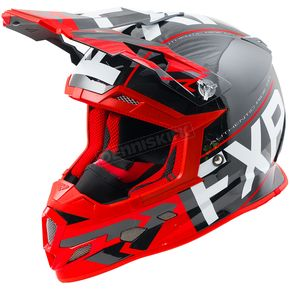FXR Racing Black/Red/White Boost Clutch Helmet - 180606-1020-10
