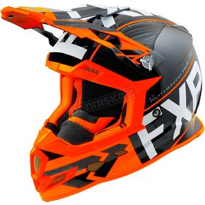FXR Racing Black/Orange/White Boost Clutch Helmet - 180606-1030-19
