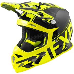 FXR Racing Black/Hi-Vis Boost Clutch Helmet - 180606-1065-16