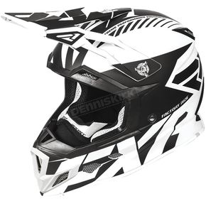 FXR Racing Black/White Boost CX Prime Helmet - 180607-1001-13