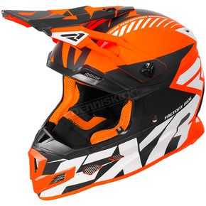 FXR Racing Orange/Black/White Boost CX Prime Helmet - 180607-3010-04