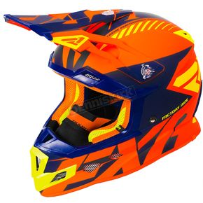 FXR Racing Orange/Navy/Hi-Vis Boost CX Prime Helmet - 180607-3045-19