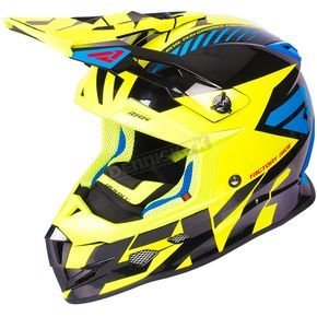 FXR Racing Hi-Vis/Blue/Black Boost CX Prime Helmet - 180607-6540-13