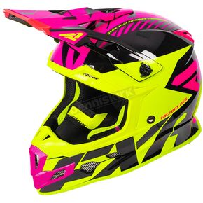 FXR Racing Hi-Vis/Electric Pink/Black Boost CX Prime Helmet - 180607-6594-07