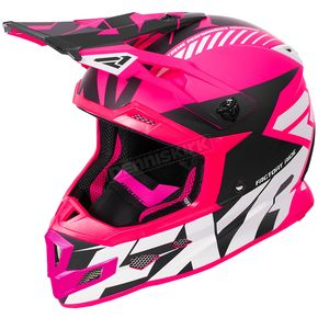 FXR Racing Electric Pink/Black/White Boost CX Prime Helmet - 180607-9410-16