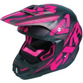 FXR Racing Black/Fuchsia/Charcoal Torque Core Helmet - 180621-1090-13