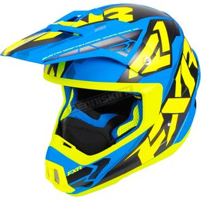 FXR Racing Blue/Hi-Vis/Black Torque Core Helmet - 180621-4065-19