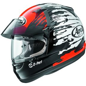 Arai Helmets Red/Black/White Signet-Q Pro-Tour Splash Helmet - 807373
