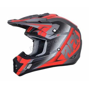 AFX Frost Grey/Red FX-17 Force Helmet - 0110-5207