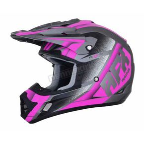 AFX Frost Grey/Fuchsia FX-17 Force Helmet - 0110-5212