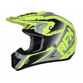 AFX Matte Neon Yellow/Silver FX-17 Force Helmet - 0110-5230