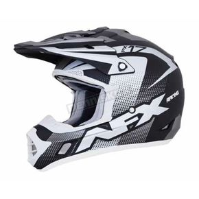 AFX Frost Grey/Black/White FX-17 Holeshot Helmet - 0110-5289