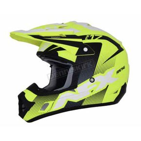 AFX Matte Neon Yellow/Black/White FX-17 Holeshot Helmet - 0110-5311