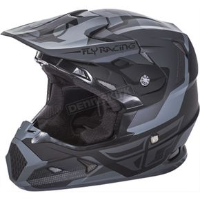 Fly Racing Youth Matte Black/Gray Toxin Helmet - 73-8515YM