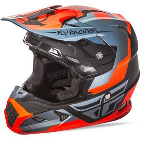 Fly Racing Matte Orange/Black/Gray Toxin Helmet - 73-8516M