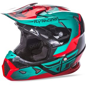 Fly Racing Red/Teal/Black Toxin Helmet - 73-8518X