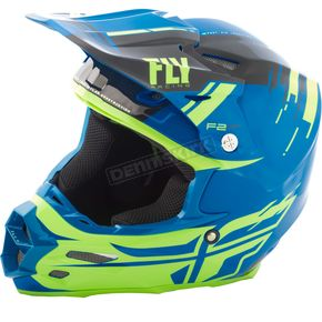Fly Racing Black/Hi-Vis F2 Carbon MIPS Forge Helmet - 73-4233X