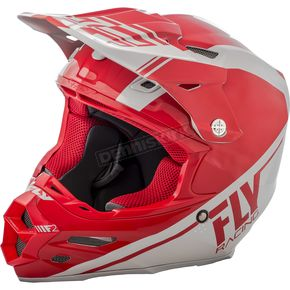Fly Racing Red/Gray F2 Carbon Rewire Helmet - 73-41622X